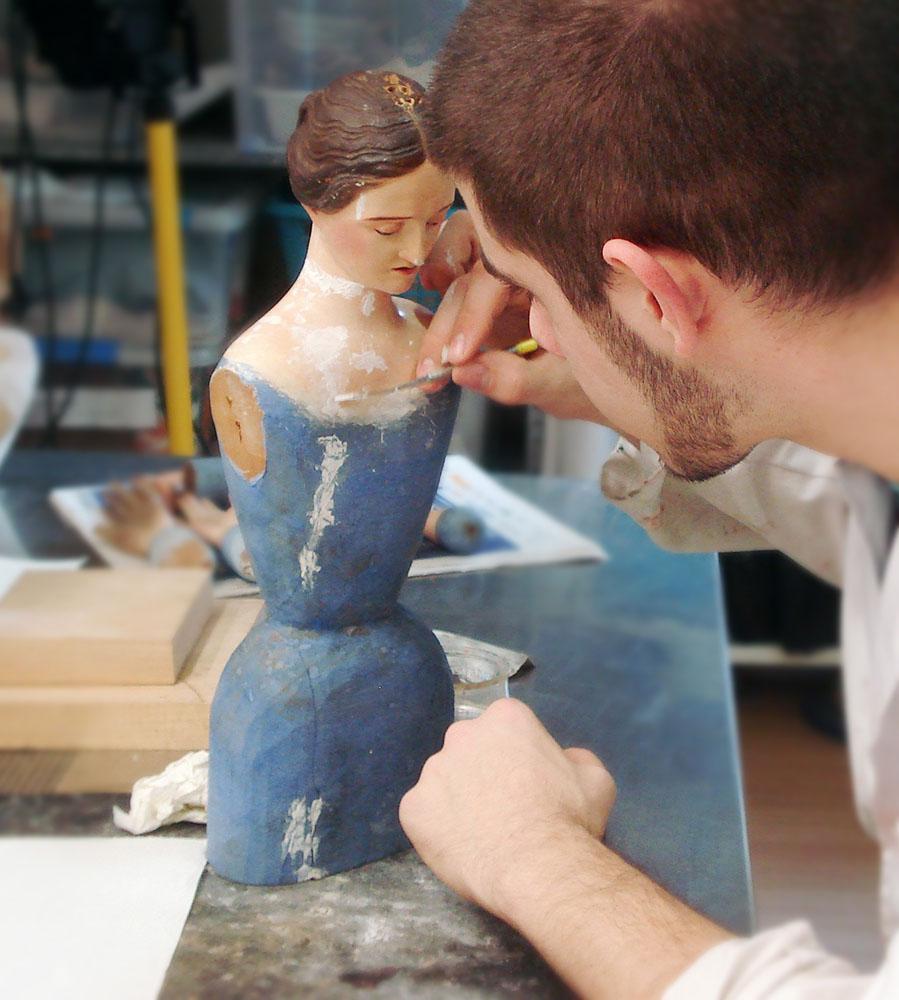 Curso de restauración de escultura policromada